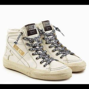Golden Goose White Leather High-Tops😎